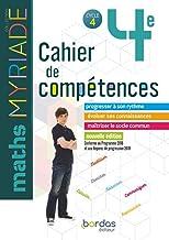 Myriade - Cahier de compétences - Mathématiques 4e - Edition 2019