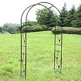 HGJDKSJ Arcos de Jardín, Arco de Jardín de Hierro Forjado, Fácil de Montar, Decoracion Jardin Arco de Metal para Plantas Trepadoras 114 * 37 * 230cm
