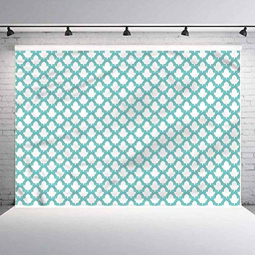 10x10FT Vinyl Photography Backdrop,Morroccan Tiles Photo Background for Photo Booth Studio Props