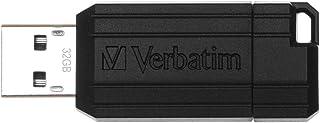 Verbatim 32GB Pinstripe Retractable USB 2.0 Flash Drive - Black