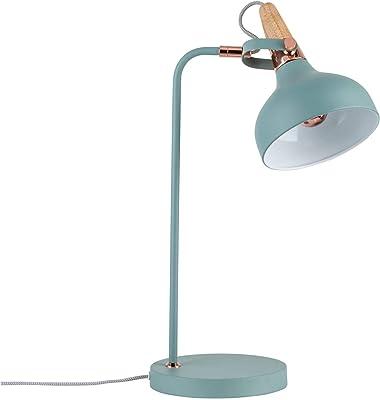 Paulmann 79651 Neordic Juna Lampada da Tavolo Max. Globe-Warehouse Lampada da Tavolo E14 da 20 W, 230 V, In Metallo E Legno, Senza Lampadina, Verde