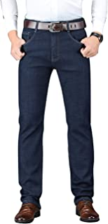 Jeans for Men Relax Fit Stretch Fabric Jeans for Men with Pockets