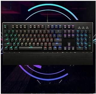 MINHUISHANGMAO Keyboard, Waterproof And Backlit USB Style Computer Keyboard, Light Pomelo Mechanical Ergonomic Design (bla...