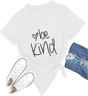 Be Kind T Shirts Women Cute Graphic Blessed Shirt Funny Inspirational  Teacher Fall Tees Tops 6988dc53592b