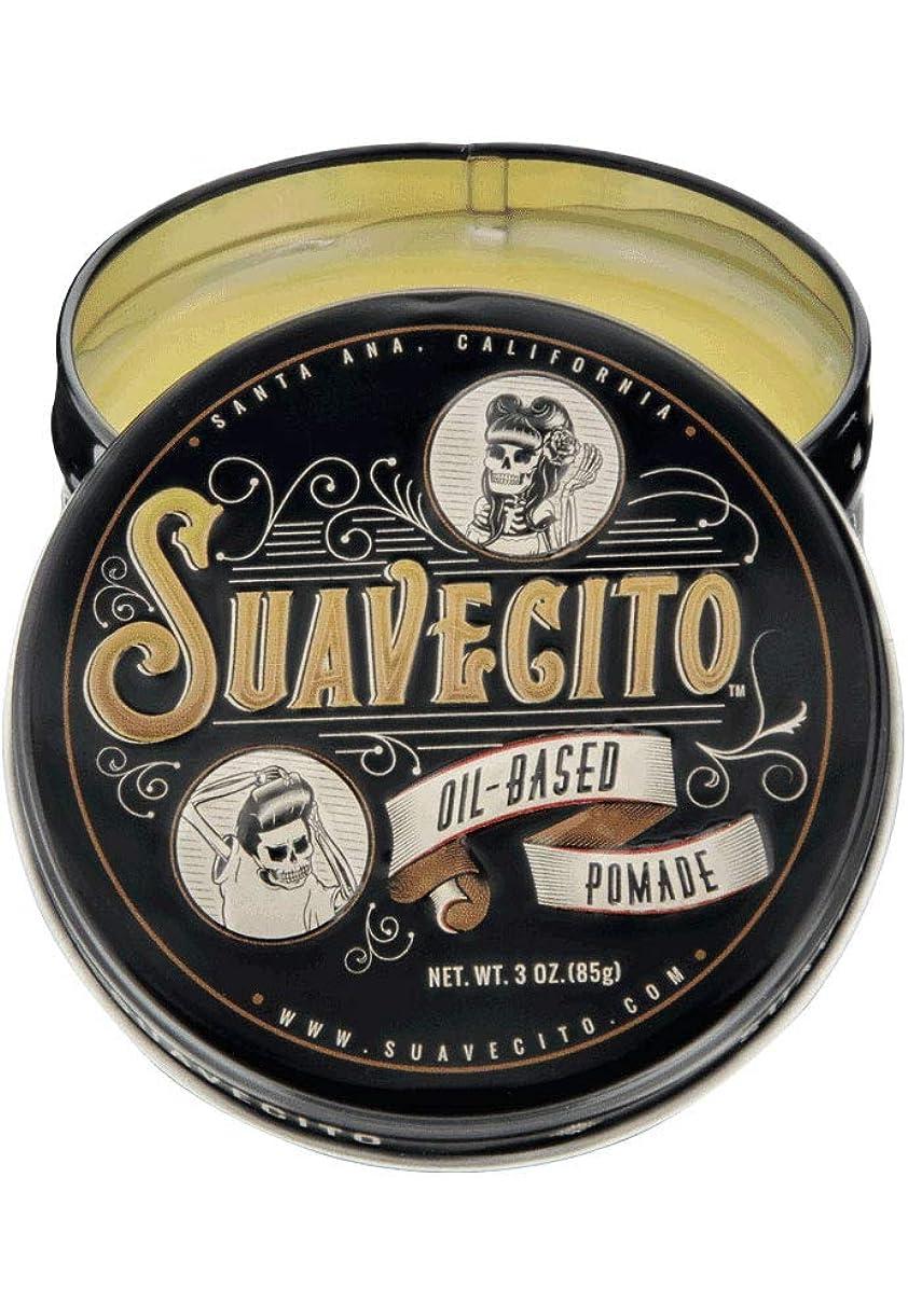 アジャインシデントファンSUAVECITO (スアベシート) OIL BASED POMADE ポマード 油性 男性用 ミディアムホールド ツヤあり トニック系の爽やかな香り 約85グラム/3オンス