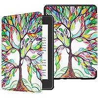 Fintie SlimShell Funda para Kindle Paperwhite (10.ª generación, 2018) - Carcasa Fina y Ligera de Cuero Sintético con Función de Auto-Reposo/Activación, Árbol de Amor