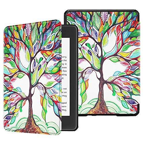 Fintie Custodia per Kindle Paperwhite 2018, Cover con Funzione AutoSveglia/Sonno per Kindle Paperwhite (10ª Generazione - Modello 2018), Love Tree