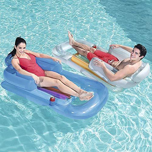 43028 Poltrona Gonfiabile Piscina Mare Designer Fashion Lounge 157x89 Bestway