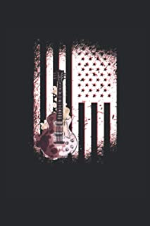 Bluegrass Notebook: Guitar USA Flag. Lined 120 pages. Soft Cover 6x9 inches, approx. DIN A5 15x22cm. Ideal gift for Bluegr...