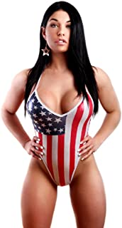 American Flag Suspender Thong Teddie. Red,White & Blue. One Size. Made in USA.