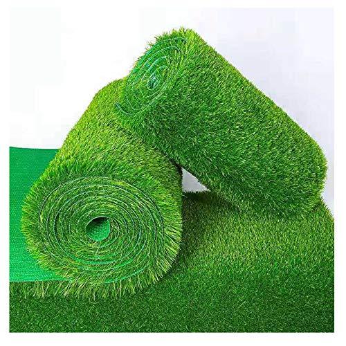Alfombra de césped artificial de 2 cm de grosor, para césped artificial, para decoración de césped, patio, jardín, color verde, tamaño: 2 x 9 m)