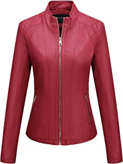 plus size red leather coat