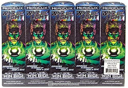 para mayoristas Heroclix Heroclix Heroclix War of Light Wave 1 Sealed Booster Brick (10 boosters) by WizKids  suministramos lo mejor