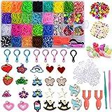 Acmerota Kit per creazione di braccialetti con elastici da 1500 pezzi, kit per creazione di braccialetti su telaio per bambini, ganci per zaino da, ciondolo da, per braccialetto a fascia fai-da