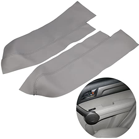 1 Pair Gray Leather Armrest Arm Rest Cover Upholstery For Honda CR-V 07 08 09 4-Door