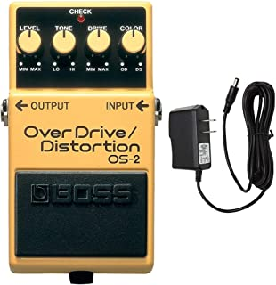 BOSS OS-2 OverDrive & Distortion with PigHog PP9V Pig Power 9V DC 1000ma Power Supply