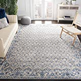 Safavieh Brentwood Collection BNT869G Oriental Distressed Non-Shedding Stain Resistant Living Room Bedroom Area Rug, 8' x 10', Light Grey / Blue