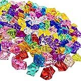 KATELER Ice Rock Crystal 160Pcs Fake Crushed Ice Rocks Acrylic Ice Cubes Gems Fake Diamond Crystals for Decoration Wedding Display Vase Fillers (Multicolour)