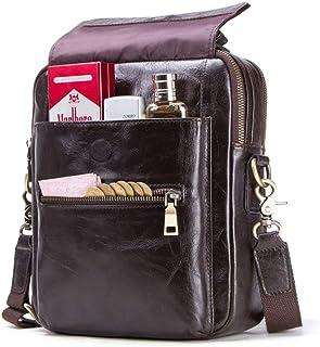 Leather Laptop Bags For Men, Man Bag Messenger Bag, Leather Shoulder Backpack Waterproof Shoulder Bag Man Purse Purses And...