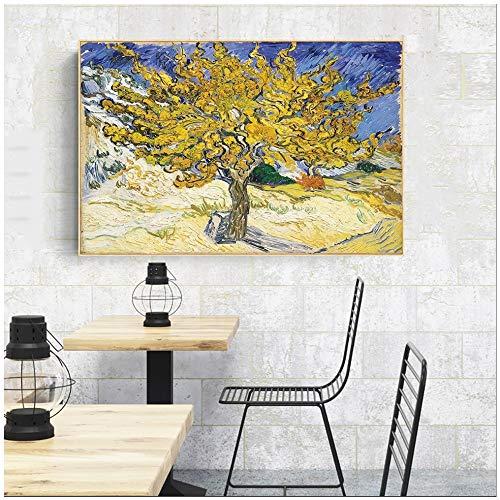 Olivenbaum Ölgemälde des abstrakten Malers Leinwanddruck Wohnzimmer Impressionisten Poster und Druck Wohnkultur Wandbilder rahmenlose Malerei 50x70cm