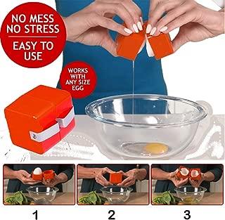 Samoii Egg Shell Topper Cutter Remover Creative Egg Shell Tool Cracker Opener Separator for Removing Raw,Soft or Hard Boiled Eggs