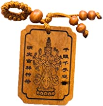 Goddess of Health and Wealth - Handmade Wood Fortune Protection, Good Luck Charms, Fortune Mantra Written on Back Side, Bring Good Luck in Financial and Love Life, Hand Crafted