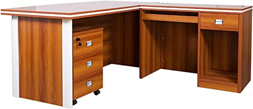 Mahmayi Plata Modern Executive Desk, 76.1 x 180 x 160 cm, Rose Cherry, ME5216-ROSECH