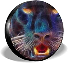 Panther Animal Fashion Abstract Black Universal Tipo de neumático de Repuesto Cubiertas de Ruedas 17 Pulgadas