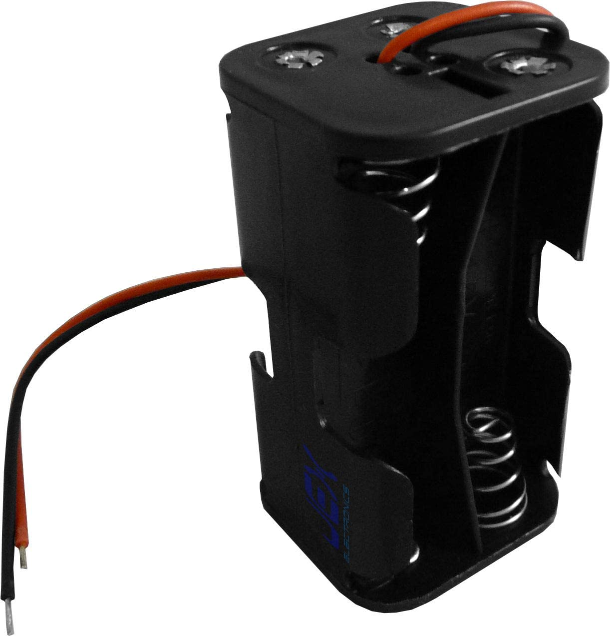 Jex Electronics Four/Quad/4X AA DIY Battery Holder Case Box Base 6V Volt PCB Mount with Bare Wire Ends