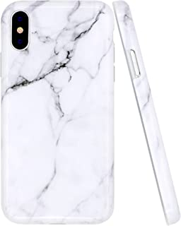 A-Focus Case for iPhone Xs MAX Case Gray Marble, Smooth White Marble Rock Stone IMD Design Bumper Shock Proof Flexible Slim TPU Silicone Case for iPhone Xs MAX 2018 6.5 inch Glossy Gray