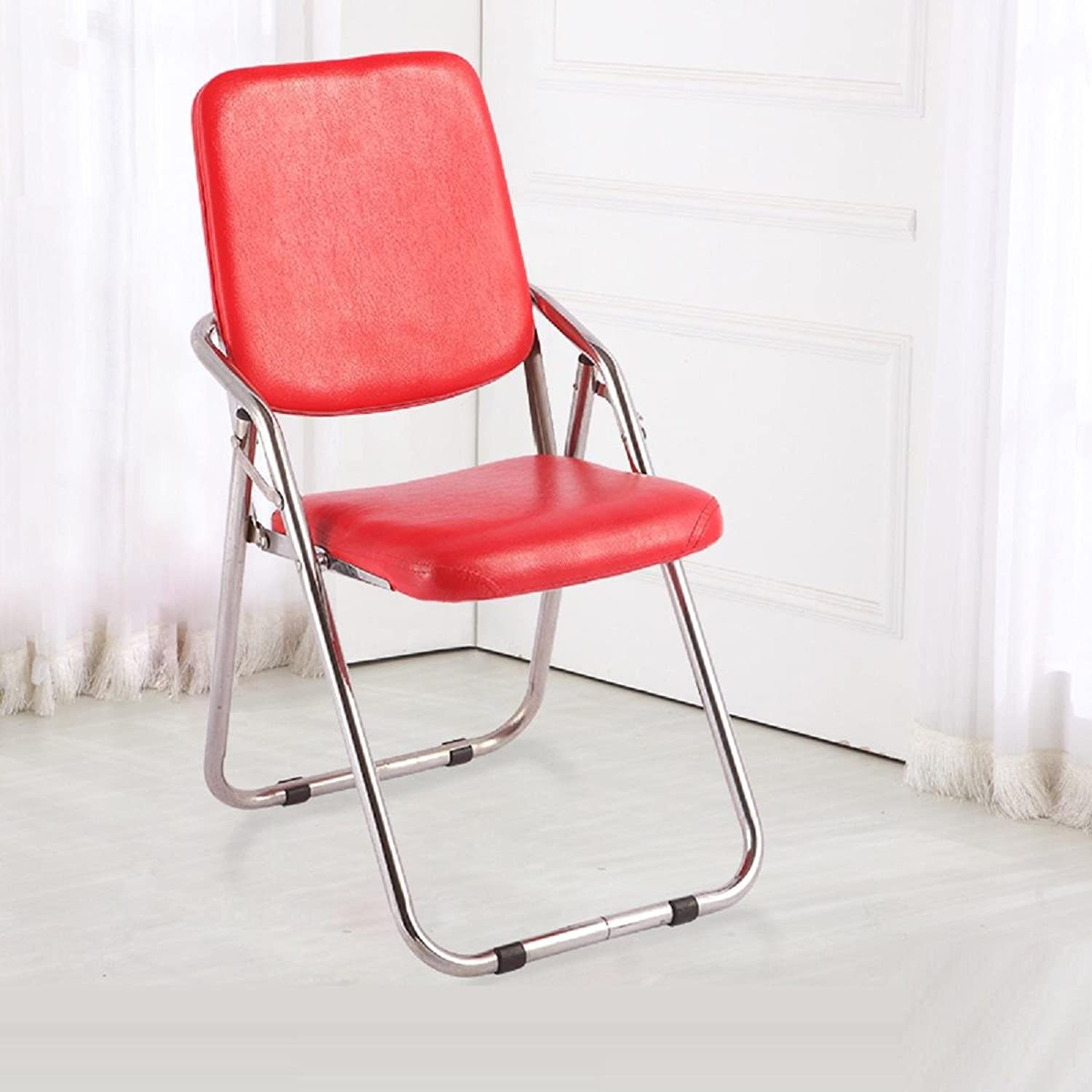 GAOJIAN Office Folding Chair Stool Leisure Backrest Computer Chair Home Table Chair Stool Staff Training Chair Weighing  200kg , c