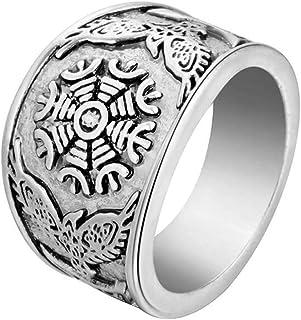 Taglio Smeraldo Zirconi Cubici CZ Set Denti Viking Scorrere LAnello Impegno Per Uomini Argento 925 A Mano In Turchia