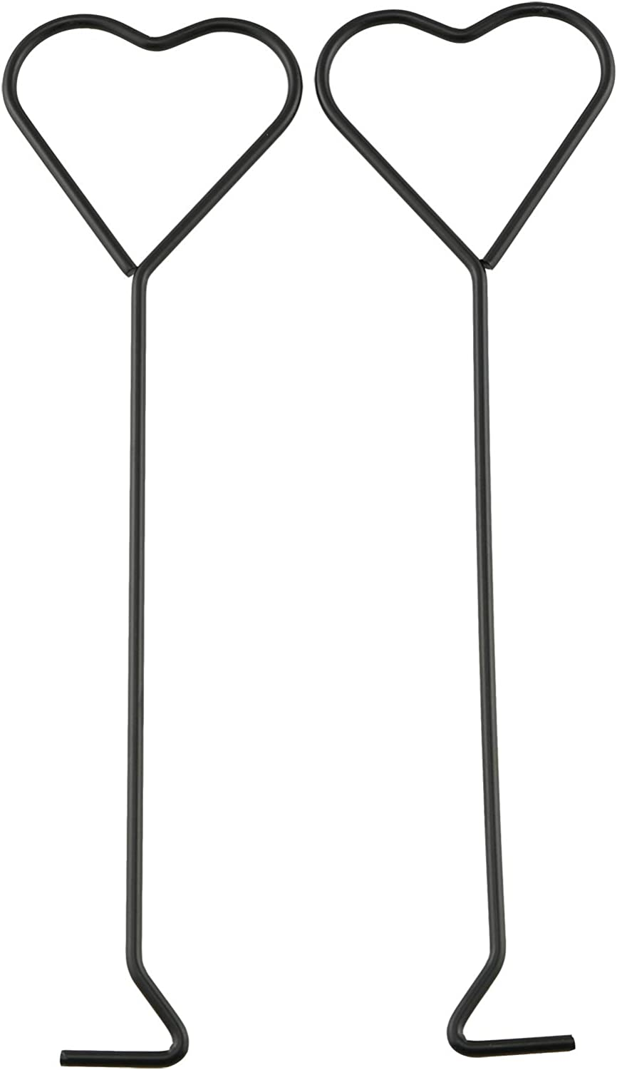 HJ Garden 2PCS Candle Hook Tool Stainless Steel Put Out Extinguish Candle Wick Dipper Snuffer Hook, Black