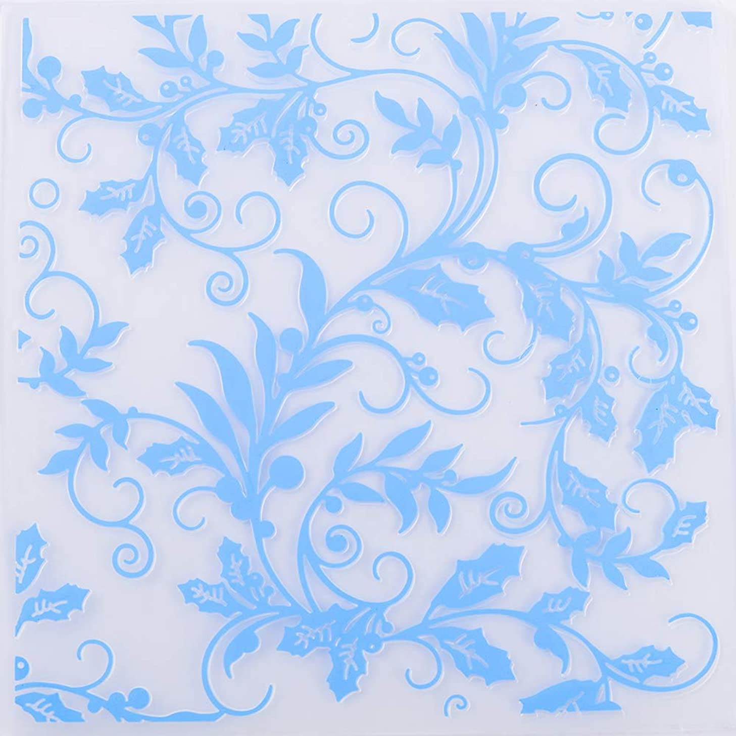 MaGuo Leaves and Flower Plastic Embossing Folder Template Floral Flourish for Card Making Scrapbooking DIY Crafts