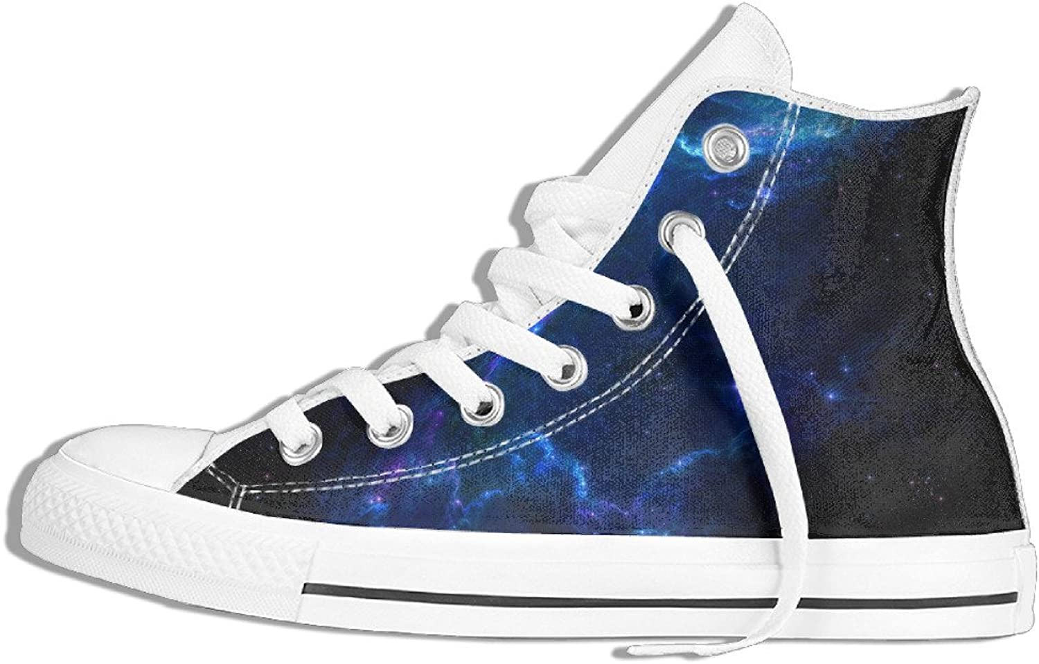 Efbj bluee Nebula Unisex Comfortable High Top Gym shoes Trainers Sneakers for Men and Women