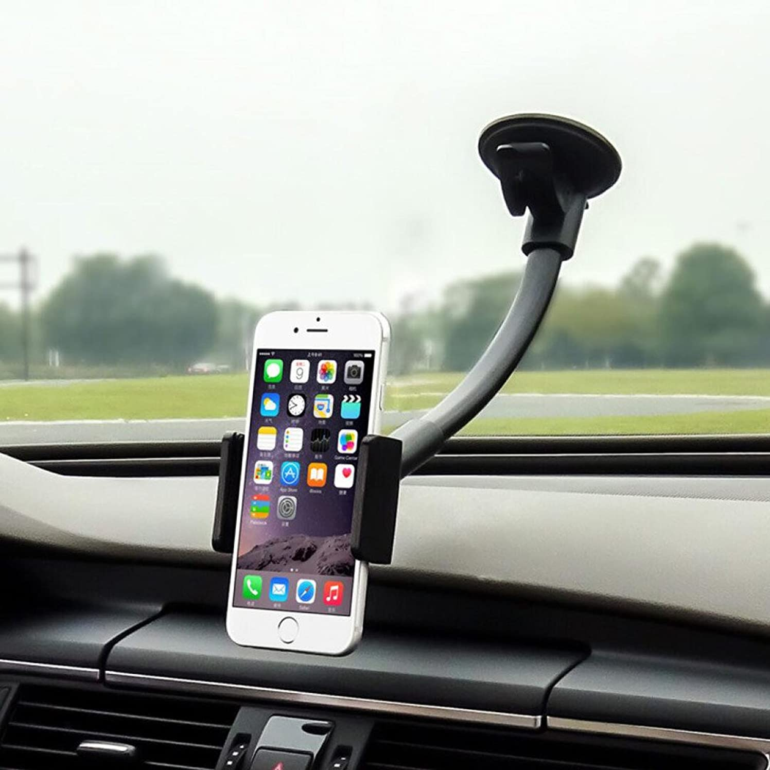 Cell Phone Holder for Car, MTWhirldy 10.6in Long Arm, Universal Car Cradles Mounts Windshield/Dashboard for iPhone X 8 Plus 6 Plus 6S 5S Samsung Galaxy S8 S7 Nexus Stands