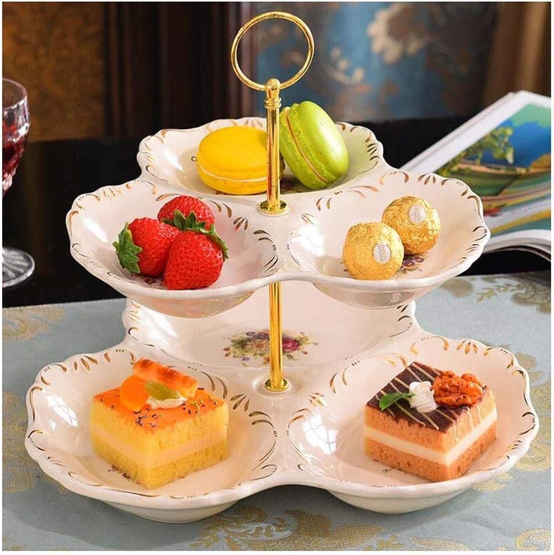 GPdawanjia Panier à Fruits Double étagère de Salon créatif pour Le thé, Le thé, Les Fruits, Les collations, Les Bonbons, Les gateaux, Les Fruits