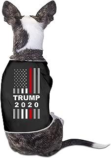 BLACKOD-PET Trump 2020 USA Thin Red Line Flag Puppy Dog Shirts Dog Costume Pets Clothing Warm Vest T-Shirt