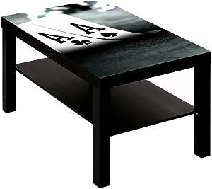 B-wie-Bilder.de Table Basse avec Motif Casino Poker Deux ASSE