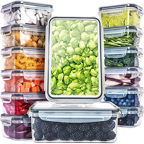 Fullstar 14 Pack Food Storage Containers with Lids  Plastic Food Containers with Lids  Plastic Containers with Lids BPAFree  Leftover Food Containers  Airtight Leak Proof Food Container