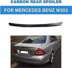 HJHNB Spoiler Trasero de Rendimiento de Fibra de Carbono Real, ala de Alto Labio de la Tapa del Maletero Rear Spoiler para Mercedes Benz W203 2001-2006 C200 C240 C320 C55 AMG Clase C