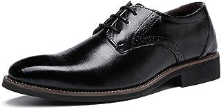 [HTAO] 革靴 ビジネスシューズ メンズ リーガル 靴 通勤 レースアップ 通気性 24.5-29cm 黒/ブルー/イエロー