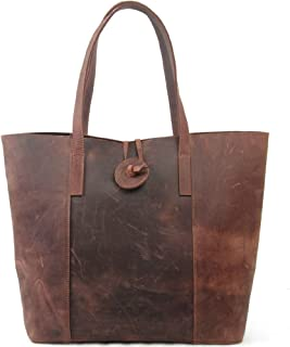 New Vintage Cow Leather Handbag, Tote Bag, MC506