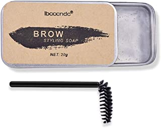 Ibcccndc Eyebrow Soap Kit,Brows Styling Soap,Long Lasting Waterproof Smudge Proof Eyebrow Styling Pomade for Natural Brows, 3D Feathery Brows Makeup Balm