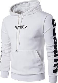 c6897f715c Sweat-Shirt Homme Sweat à Capuche Manches Longues Vêtements De Sport