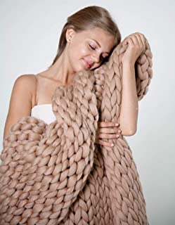 big chunky knit throw