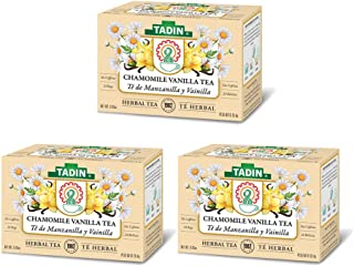 Tadin Herbal Tea Manzanilla con Vainilla / Chamomile Vanilla. Calming, Soothing & Caffeine Free Blend. 24 Bags. 0.84 Oz - ...