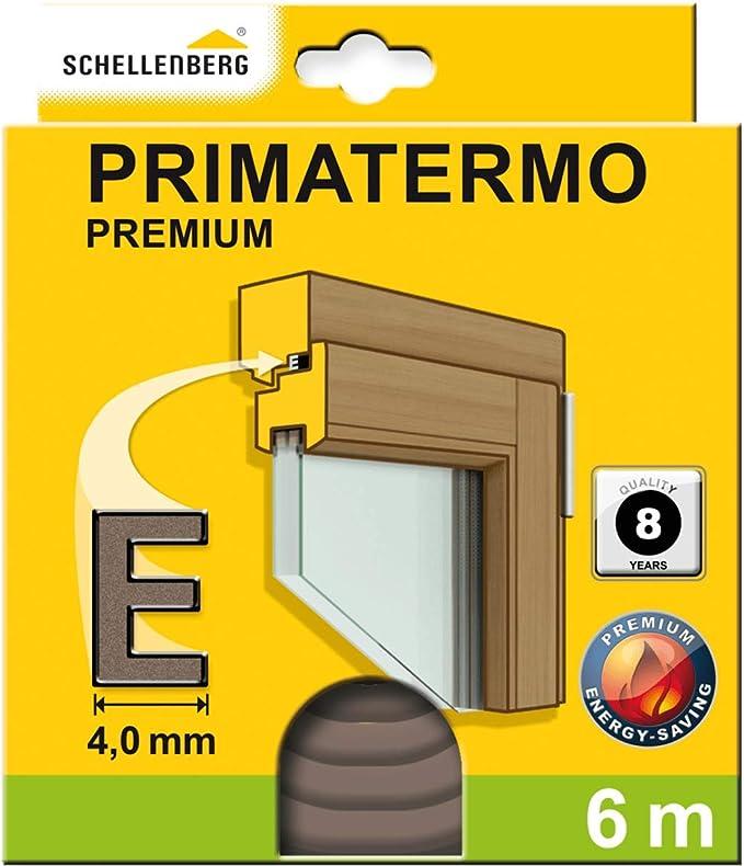 Schellenberg 66327 Fenster Dichtung Premium E Form 9 X 4 Mm 6 M Gummidichtung Zur Abdichtung Von Spalten Auch An Türen Baumarkt