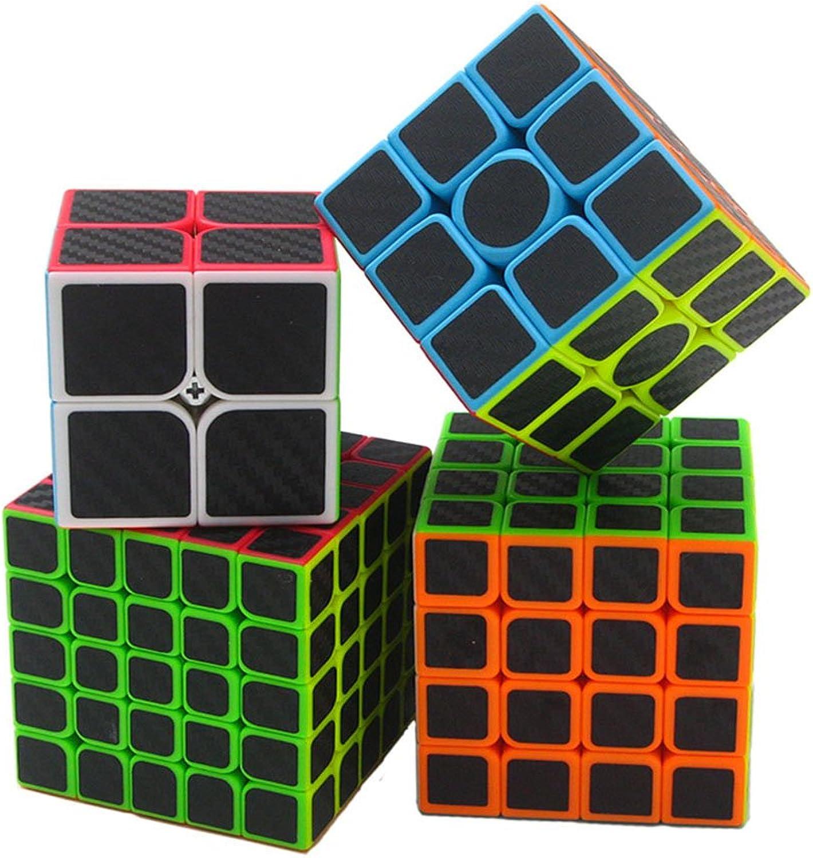 HJXD- Neu Zauberwürfel   Magischer Würfel von 2x2x2 3x3x3 4x4x4 5x5x5 Geschwindigkeit Cube mit Kohlenstoff Faser Sticker 3D Puzzle Cube für den Wettbewerb B071ZTZ3G8 Neuankömmling  | Leicht zu reinigende Oberfläche