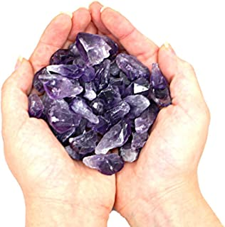 Rock Paradise Amethyst Points - 1/2 Pound Bag - A Grade Raw Stone from Brazil 18-28 Pieces Exclusive COA (1/2 Pound, Amethyst)